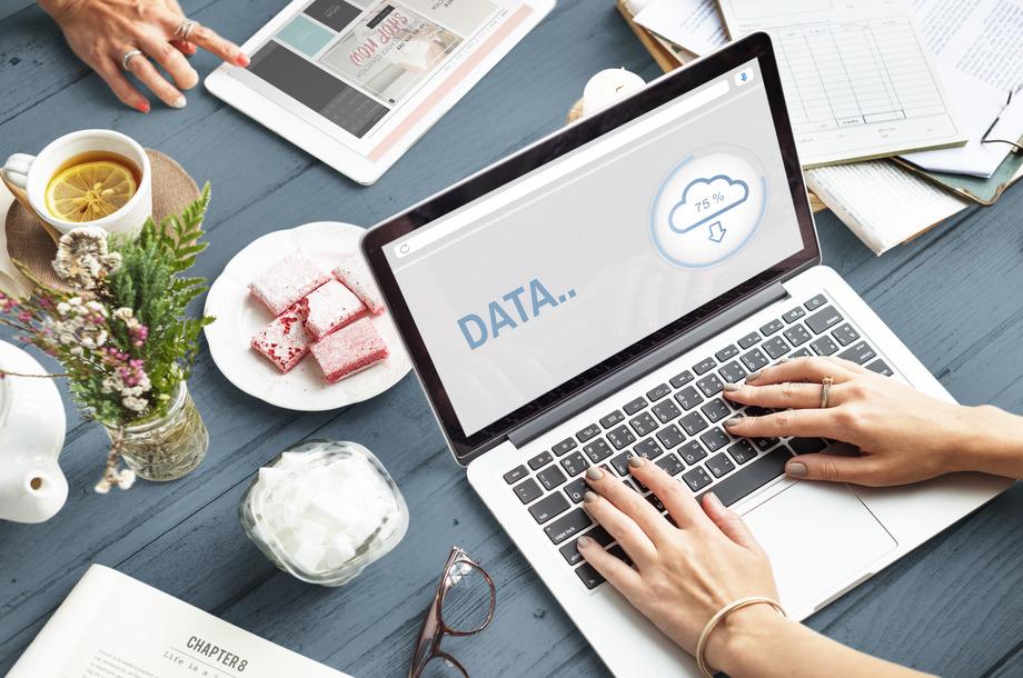 data the cloud storage information concept